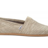 TOMS Clay Brown Space-Dyed Men's Canvas Classics Slip-On Shoes,