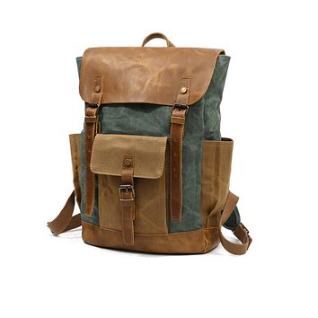 Fashion Canvas Backpack For Men And Women