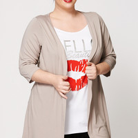 Hello Beautiful Two-In-One Mock Top And Cardigan