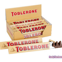 Toblerone Milk Chocolate Bars: 12-Piece Box | CandyWarehouse.com Online Candy Store