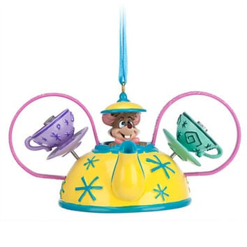 disney parks dormouse mad tea party christmas ear hat ornament new with tag