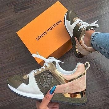 LV Louis Vuitton Run Away simple casual sports sneakers shoes