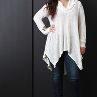 Marled Long Sleeve Oversized Sweater