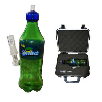 14mm Sprite Bottle Dab Oil Concentrate Rig with Globe and Nail + Carrying Case