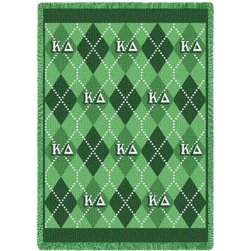 KAPPA DELTA ARGYLE AFGHAN THROW BLANKET