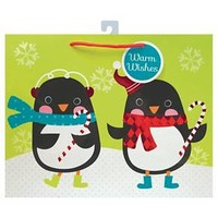 Holiday Penguin Gift Bag Vogue - Assorted : Target
