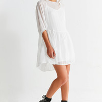 Oh My Love Embroidered Smock Dress | Urban Outfitters