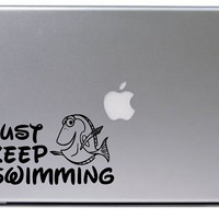 Finding Nemo Decal / Disney Decal / Just Keep Swimming Decal / Macbook Decal / Laptop Decal