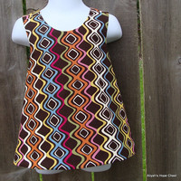 Pinafore Top --- Wild Squiggles