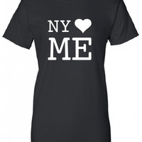 I love NY loves Me I heart N Y printed new york city hot hip hop US dope t-shirt tee shirt Mens Womens Ladies banksy bronx obey nyc ML-260
