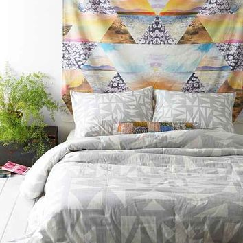 Assembly Home Finn Triangle Comforter- Grey