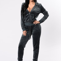 And Chill Hoodie Track Suit Set - Stormy Weather