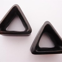 Triangle Wood Hollow Tunnels (2 gauge - 1 inch)