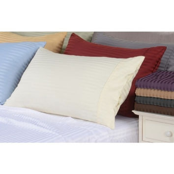 """21"""" Deep Pocket- 5 Sizes-600 Thread Count Striped Egyptian Cotton Bed Sheet Sets in Queen Size"""