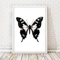Contemporary Butterfly Print