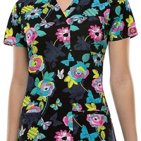 """Buy Dickies Women's Time Butterflies By Youtility"""" Jr. Fit V-Neck Top for $21.45"""