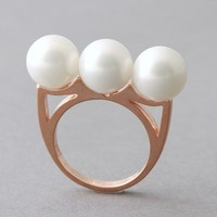 SHELL PEARL RING STERLING SILVER ENGAGEMENT PEARL RING ROSE GOLD from kellinsilver.com