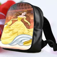 belle disney for Backpack / Custom Bag / School Bag / Children Bag / Custom School Bag **