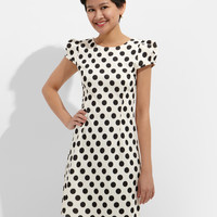 Minnie Cream Polka Dot Dress