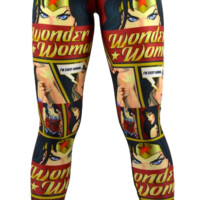 Wonder Woman Leggings Burgundy/Navy Blue (Final Sale)