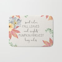 Fall Bath Mat by sylviacookphotography