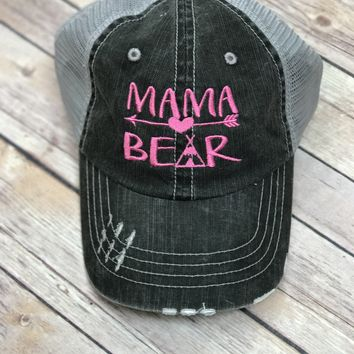 Mama Bear Hat in Pink