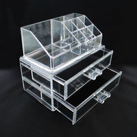 Clear Acrylic Makeup Organizer  - great for makeup, jewelry, party favors, craft storage, party displays, Christmas/Holiday gift idea
