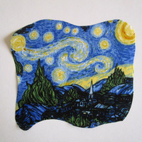 """Starry Night Iron On Patch Applique 9"""""""