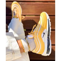Nike Air Max 97 Fashion Women Men Casual Air Cushion Gym Sport Running Shoes Sneakers Yellow