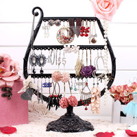 Cup earring display black Jewelry display shelf earring holder jewelry organizer earrings display stand frame fashion rack