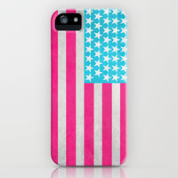 USA Flag iPhone & iPod Case by M Studio - iPhone 3G, 3GS, 4, 4S, 5/iPod Touch 5/Galaxy S4