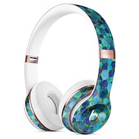 Mixed Blue-Green Watercolor Dots Full-Body Skin Kit for the Beats by Dre Solo 3 Wireless Headphones