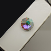 1PC Bling Colorful Swarovski Crystal Circle iPhone Home Button Sticker Charm for iPhone 4,4s,4g,5,5c Cell Phone Charm Lover Gift