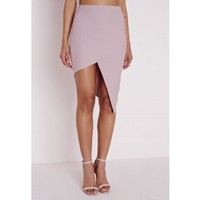 Asymmetric Midi Skirt Mauve - Skirts - Missguided