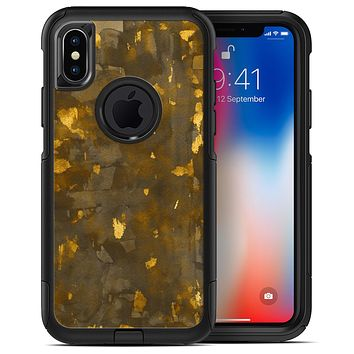 Abstract Dark Gray and Golden Specks - iPhone X OtterBox Case & Skin Kits