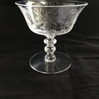 Heisey Orchid Champagne Coupes, Set of 5 Vintage Crystal Cocktail Glasses, Crystal Stemware