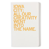 Iowa City Name Notebook
