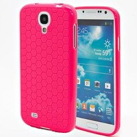Hyperion Samsung Galaxy S4 Mini HoneyComb Matte Flexible TPU Case (Cover Compatible with Samsung Galaxy S 4 Mini GT-i9190) **Hyperion Retail Packaging** [2 Year Warranty] - PINK