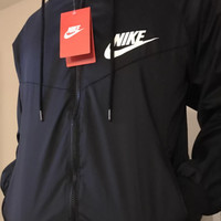"NIKE"" Hooded Zipper Cardigan Windbreaker Sweatshirt Jacket Coat Sportswear"