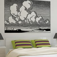 Vinyl Wall Decal Sticker Cloudy Sky #OS_AA1695