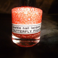 Butterfly Fighter---Handmade/Homemade Glitter Nail Polish