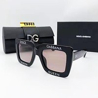 fashion casual ladies large frame printed sunglasses