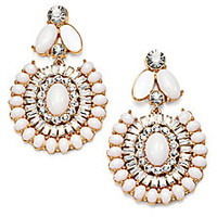 Kate Spade New York - Cabochon Cluster Statement Earrings - Saks Fifth Avenue Mobile