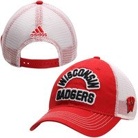 Wisconsin Badgers adidas FG Slouch Meshback Adjustable Hat – Red