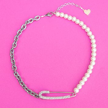 Pearl 50/50 Safety Necklace