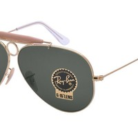 Cheap Ray Ban Shooter RB3138 001 58 Gold Frame / Green Classic G-15 Lenses