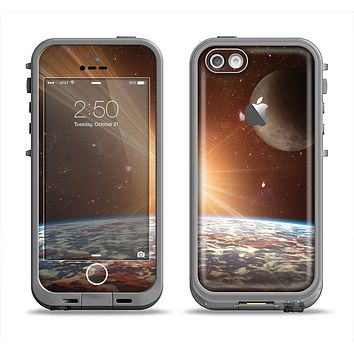 The Earth, Moon and Sun Space Scene Apple iPhone 5c LifeProof Fre Case Skin Set
