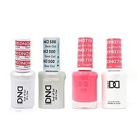 DND - #500#600 Base, Top, Gel & Lacquer Combo - Pink Grapefruit - #718