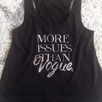 More Issues Than Vogue Silver Glitter Hi-Lo Tanks