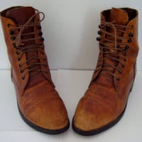Lace Up Riding Boots by On Course Distressed Brown Leather